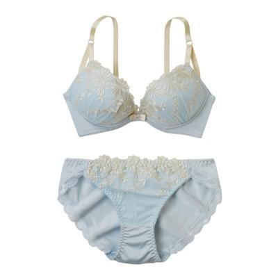 エトゥ デイジー刺しゅうデザイン ブラジャー・ショーツセット(A85/LL) (ブラジャー&ショーツセット)Bras & Panties