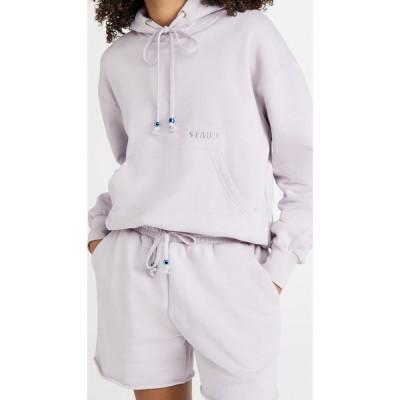 スタウド STAUD レディース パーカー スウェット トップス Hooded Sweatshirt Lavender