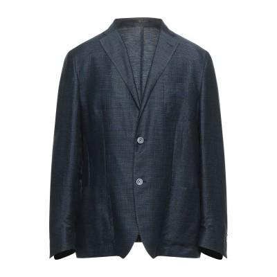 CORNELIANI ID テーラードジャケット ダークブルー 50 リネン 77% / コットン 23% テーラードジャケット