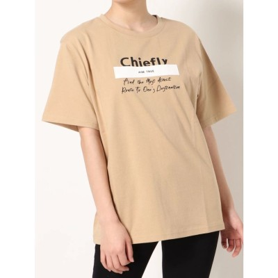 EMODA パッチプリントTシャツ(ベージュ)