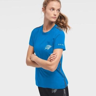 ダナ キャラン ニューヨーク レディース Tシャツ トップス Oklahoma City Thunder DKNY Sport Women's Donna Sport Pocket T-Shirt