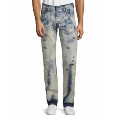 メンズ パンツ デニム ジーンズ Distressed Cotton Jeans