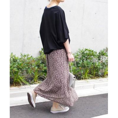 (Fizz/フィズ)【2020新作】花柄マーメイドラインロングスカート fi SS 202070/レディース ブラウン