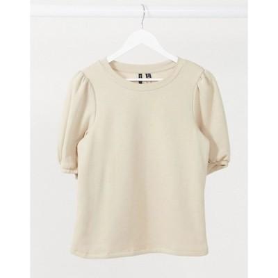 ヴェロモーダ レディース シャツ トップス Vero Moda sweatshirt top with puff sleeves in camel