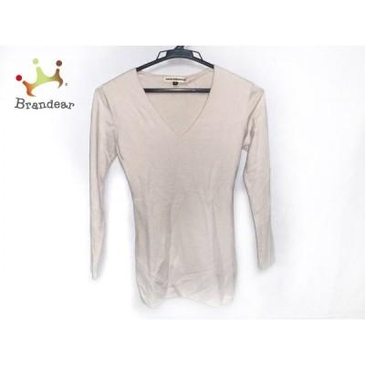 レジィーナロマンティコ 七分袖セーター サイズ36 S レディース - ベージュ Vネック  値下げ 20210403
