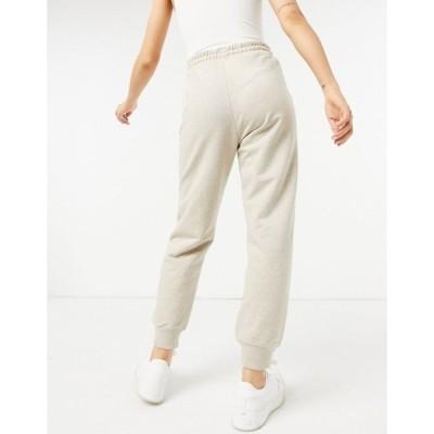 アンドアザーストーリーズ レディース カジュアルパンツ ボトムス & Other Stories organic cotton straight leg sweatpants in beige Pink/gray melange