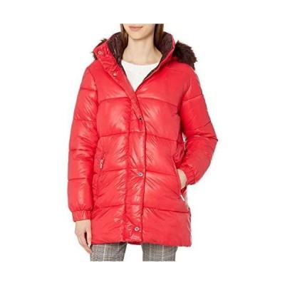 Rachel Roy Women's Heavy Puffer Jackets, Red, M