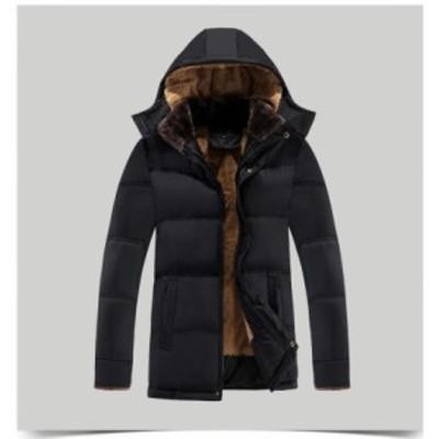 ダウンジャケット ダウンコートメンズ  ブルゾン 大きいサイズ 裏起毛 防風 防寒着 大きいサイズ ショート丈コート お洒落 秋冬 アウター