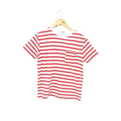 チャオパニック ティピー CIAOPANIC TYPY Tシャツ カットソー 半袖 クルーネック ボーダー S 赤 レッド /AY17 レディース【中古】【ベクトル 古着】