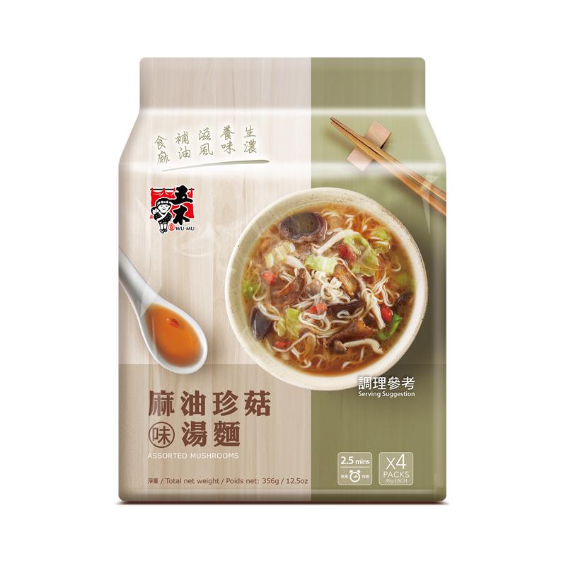 五木麻油珍菇味湯麵 356g