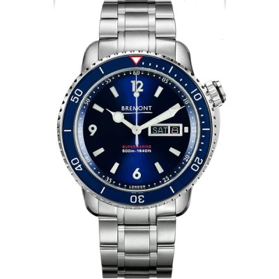 Bremont Watch Supermarine Chronometer S500 Blue Dial S500/BL/BR/2018