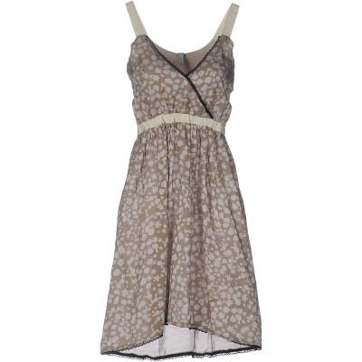 カフェノワール CAFèNOIR ミニワンピース&ドレス カーキ M コットン 70% / シルク 30% ミニワンピース&ドレス