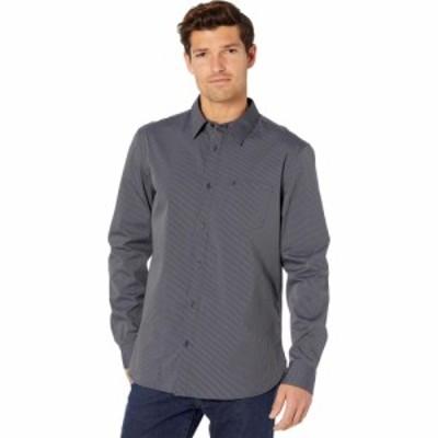カルバンクライン Calvin Klein メンズ シャツ トップス Long Sleeve Stretch Cotton Button-Up Black