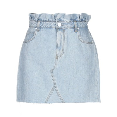 P_JEAN デニムスカート ブルー 24 コットン 100% デニムスカート