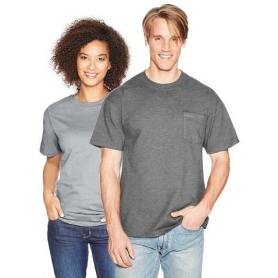 ユニセックス 衣類 トップス Hanes Beefy-T Adult Pocket T-Shirt Style 5190 Tシャツ