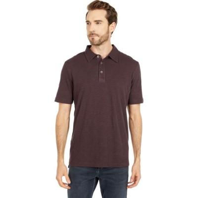 モドオードック Mod-o-doc メンズ ポロシャツ 半袖 トップス Zuma Short Sleeve Polo Black Plum