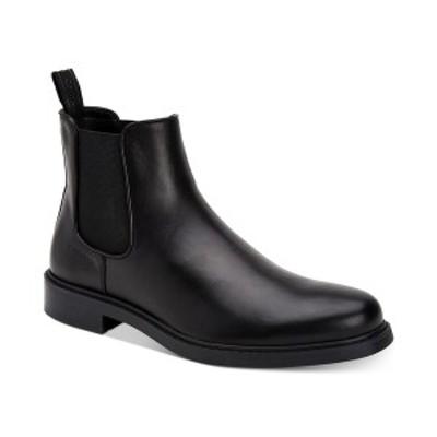 カルバンクライン メンズ ブーツ&レインブーツ シューズ Men's Fenwick Dress Casual Chelsea Boots Black