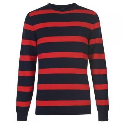 ガント Gant メンズ ニット・セーター トップス Block Stripe Jumper Red