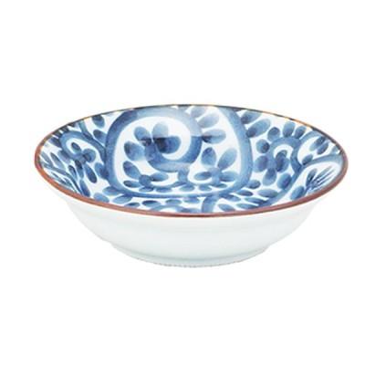 そば用品 和食器 / たこ唐草 丸小皿 寸法: Φ9 x H2.5cm 60g