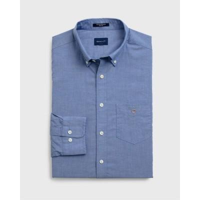 ガント Gant メンズ シャツ トップス Broadcloth Shirt Mid Blue