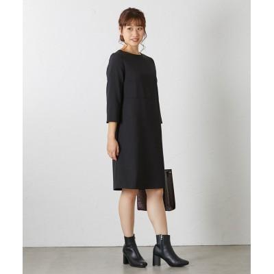 小さいサイズ ウール調膝丈ワンピース 【小さいサイズ・小柄・プチ】ワンピース, Dress