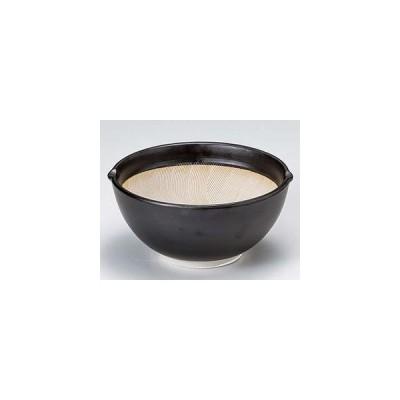 和食器 ホ414-207 黒マット3.5スリ鉢
