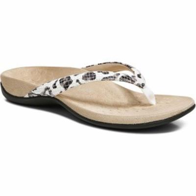 バイオニック VIONIC レディース ビーチサンダル シューズ・靴 Dillon Snake Embossed Flip Flop White Fabric