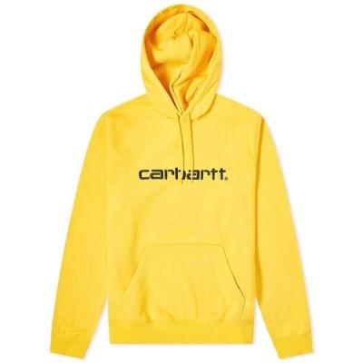 カーハート Carhartt WIP メンズ パーカー トップス Logo Hoody Sunflower/Black