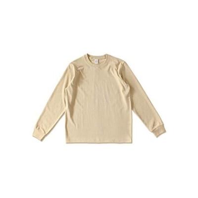 [クーパーアンドコー] 10カラー S2XL むじ 細身 Tシャツ ベーシック ユニセックス シンプル カジュアル トップス (ベージュ M)