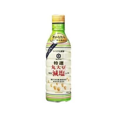 【12個入り】キッコーマン 新鮮特選丸大豆減塩しょうゆ 450ml