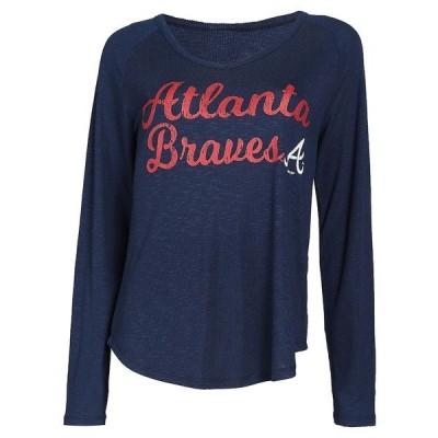 コンセプツ スポーツ レディース Tシャツ トップス Atlanta Braves Concepts Sport Women's Composure Long Sleeve Top