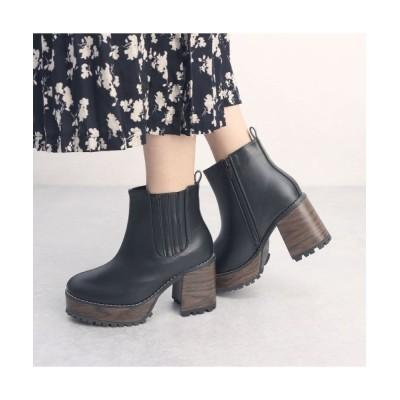 Mafmof / Mafmof(マフモフ) サイドゴア厚底ストームウッド風ヒール ブーツ WOMEN シューズ > ブーツ