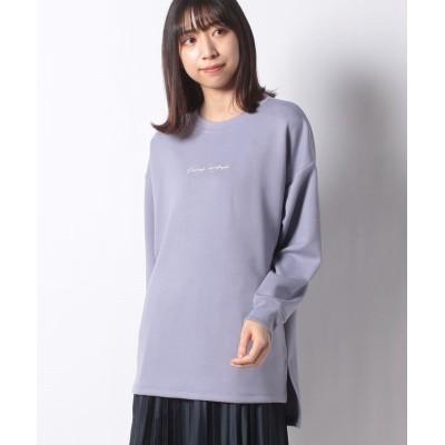 (Te chichi/テチチ)【Techichi TERRASSE】ダンボール刺繍ロゴプルオーバー LS/レディース ブルー