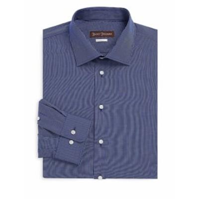 ヒッキーフリーマン Men Clothing Mini Check Classic-Fit Cotton Dress Shirt