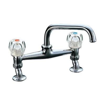 LIXIL(リクシル)INAX キッチン用水栓金具 2ハンドル混合水栓 吐水口長さ190mm 整流吐水 寒冷地対応 SF-131-G-U