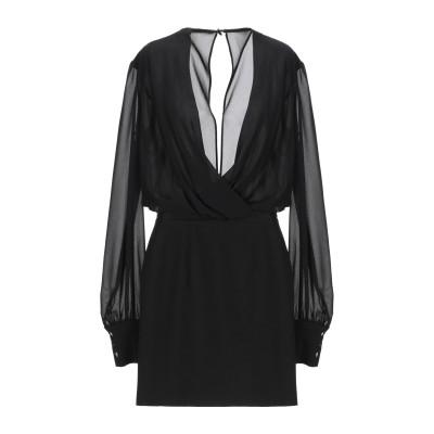 MANGANO ミニワンピース&ドレス ブラック S ポリエステル 70% / レーヨン 25% / ポリウレタン 5% ミニワンピース&ドレス