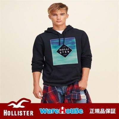 【S Mサイズ】HOLLISTER ホリスター グラフィックパーカー Logo Graphic Hoodie【Navy】ネイビー