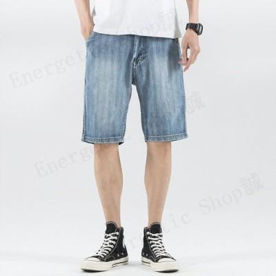 ショートパンツ デニムパンツ メンズ 迷彩柄 カモフラ ワンポイント オシャレ ウォッシュ加工 新作