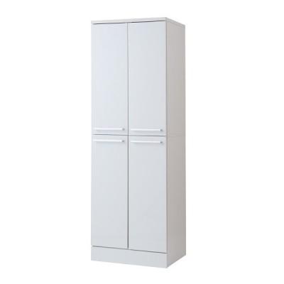 キッチンストッカー 幅60cm 大容量 ホワイト色 キッチンシリーズFace 組立式 fy-0041