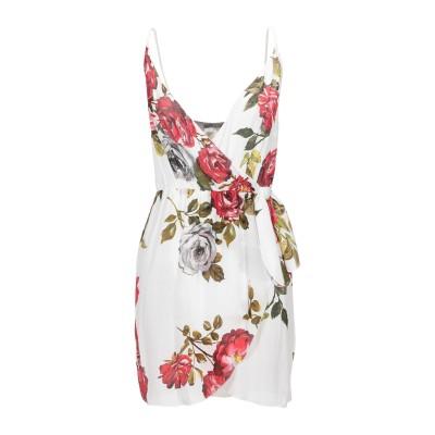 カルラ ジー CARLA G. ミニワンピース&ドレス ホワイト 42 レーヨン 100% ミニワンピース&ドレス