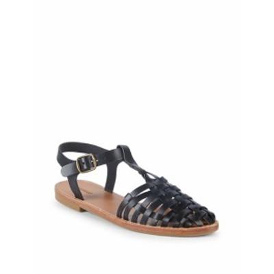 ソルドス レディース シューズ サンダル Round-Toe Leather Fisherman Sandals