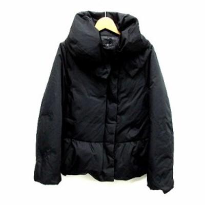 【中古】ユニバーバル ミューズ UNIVERVAL MUSE ダウン ジャケット ボリュームカラー ブラック 黒 2 レディース