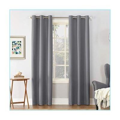 """新品Sun Zero Cooper Thermal Insulated Room Darkening Grommet Curtain Panel, 40"""" x 63"""", Gray"""