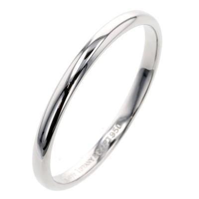 最終値下げ ティファニー リング 指輪 ルシダバンド 幅約2mm プラチナPT950 20.5号 メンズ TIFFANY&Co. 中古 K10120683 PD3