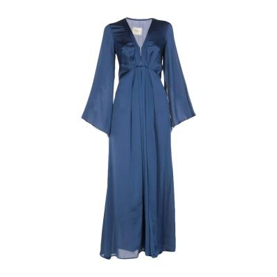 メルシー ..,MERCI ロングワンピース&ドレス ブルー 42 ポリエステル 100% ロングワンピース&ドレス
