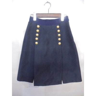 SACAI サカイゴールドボタン付 レースレイヤードスカート サイズ1ブランド古着【中古】