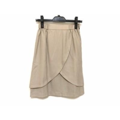【BIG SALE対象】ジャスグリッティー JUSGLITTY スカート サイズ1 S レディース アイボリー×黒 リバーシブル【中古】
