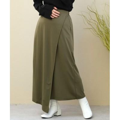 ANDJ / ドレープスパンラップロングスカート WOMEN スカート > スカート
