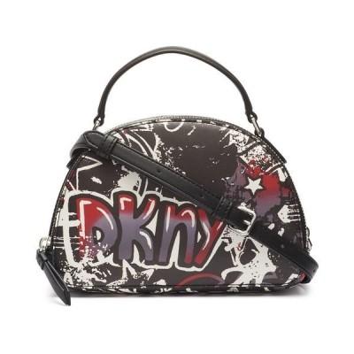 ダナ キャラン ニューヨーク ショルダーバッグ バッグ レディース Tilly Mini Dome Graffiti Crossbody Black Graffiti