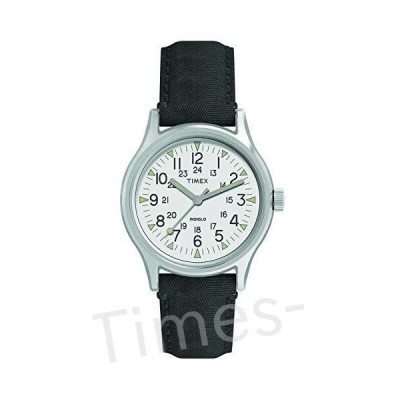 Timex Men's Year-Round Stainless Steel Quartz Watch with Nylon Strap, Black